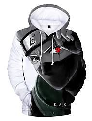cheap -Inspired by Naruto Naruto Uzumaki Cosplay Costume Hoodie Polyster Print Printing Hoodie For Men's / Women's