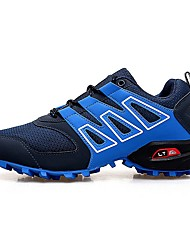 cheap -Men's Mesh Spring & Summer Athletic Shoes Hiking Shoes Non-slipping Color Block Blue / Black / Gray