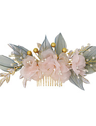 cheap -Pastoral Style Beads / Alloy Hair Combs / Hair Accessory with Floral 1 Piece Wedding / Party / Evening Headpiece