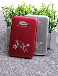 Недорогие -yd0007 2,5-дюймовый USB 3.0 к SATA3.0 внешний портативный жесткий диск коробка серебристый / красный