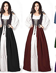 cheap -Plague Doctor Retro Vintage Gothic Steampunk Dress Masquerade Women's Costume Purple / Burgundy / Green Vintage Cosplay Event / Party Long Sleeve