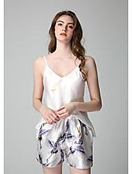 Недорогие -Жен. Костюм Ночное белье Винный Розовый Пурпурный M L XL