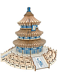cheap -3D Puzzle Paper Model Model Building Kit Famous buildings Chinese Architecture Temple of Heaven DIY Classic Adults' Unisex Toy Gift