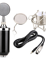 cheap -Professional BM 8000 Sound Studio Recording Condenser Microphone with 3.5mm Plug Stand Holder for Personal Audio Recording KTV
