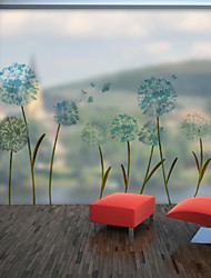 Недорогие -Фэнтези цветы узор матовая оконная пленка цеплять винил теплоизоляция защита частной жизни домашнего декора для окна двери шкафа наклейки / наклейка окна 60x58 см