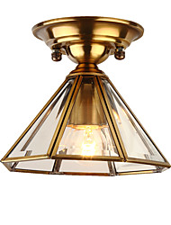 cheap -JSGYlights 19 cm Geometric Shapes Flush Mount Lights Metal Glass Electroplated Traditional / Classic 110-120V / 220-240V