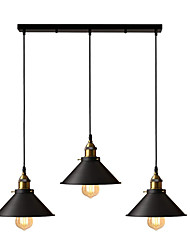 cheap -OYLYW 3-Light 22 cm Island Design Pendant Light Metal Painted Finishes Vintage / Island 110-120V / 220-240V
