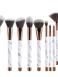 cheap -Miyaup 11pcs Marble Pictures Makeup Brushes With Fan Shaped Women Love Cosmetics Makeup Tool PU Bag Makeup Beauty Kit