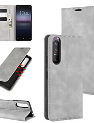 Недорогие -для sony 1 ii ретро-кожа бизнес магнитный чехол на кожаном всасывании с держателем&усилитель; слоты для карт&усилитель; кошелек
