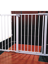 Недорогие -Собаки Pet Gate Панели расширения Влажная чистка Прочный Установленное давление пластик Нержавеющая сталь S L Белый 1 шт.