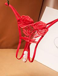 Недорогие -Жен. Кружева / Сетка Бюстгальтер без косточек Ночное белье Однотонный Винный Лиловый Розовый Один размер