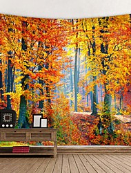 Недорогие -красивый природный лес напечатан большой настенный гобелен дешевые хиппи на стене богемные гобелены мандала стены искусства декора
