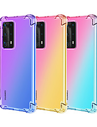 cheap -Gradient TPU phone case for Huawei P40 / Pro P30 / P20 Pro Lite Huawei Mate30 / Pro Mate20 / Pro / Lite Mate20X  Nova4E air cushion TPU phone case