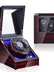 cheap -LED Light Watch Display Stand Watch Winder Watch Winder Box Wood 20 cm 18 cm