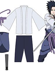 levne -Inspirovaný Naruto Uchiha Sasuke Anime Cosplay kostýmy japonština Úbory Vrchní deska Kalhoty Provaz Pro Pánské Dámské / Kolluk