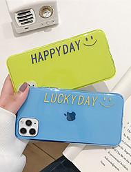 Недорогие -чехол для яблока iphone 11 11 pro 11 pro max счастливый день флуоресцентный тпу материал устойчивый к царапинам чехол для мобильного телефона