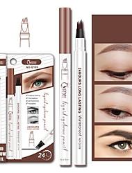 cheap -Microblading Eyebrow Tattoo Pencil Waterproof Fork Tip Eyebrow Pen Liquid Eye Brow Enhancer Dye Tint Pen