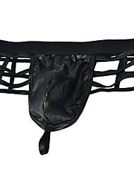 cheap -Men's Cut Out Boxers Underwear - Normal Low Waist Black One-Size