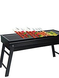 cheap -Factory Direct Barbecue Grill Outdoor Folding Barbecue Charcoal Grill BBQ Portable Household Grill Barbecue Box
