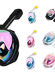 cheap -Diving Mask Full Face Mask Waterproof Single Window - Diving Silicone - For Adults Pink Green Blue Black