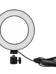 cheap -New 6 inch LED Ring Light TikTok Light Youtube Video Living Broadcast Selfie Fill Round Lamp Dimmable 3 Light Modes Selfie Fill Lamp USB 1pc