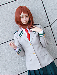 cheap -Inspired by My Hero Academia / Boku No Hero Ochaco Uraraka Schoolgirls JK Uniform Anime Cosplay Costumes Japanese Cosplay Suits Anime Solid Colored Coat Shirt Skirt For Women's / Tie / Tie