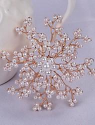 Недорогие -женские жемчужные броши классический цветок стильный простой классический брошь ювелирные изделия золото
