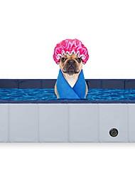 Недорогие -круглый пвх бассейн для домашних животных квадратная ванна для кошек и собак ванна для мытья домашних животных