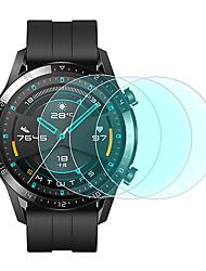 Недорогие -3 шт протектор экрана для часов Huawei GT2 46 мм закаленное стекло прозрачный высокой четкости (HD) царапинам / твердость 9 ч