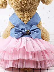 cheap -Dog Outfits Dress Dog Clothes Pink Blue Black Costume Polyster Sequin Wedding XS S M L XL XXL