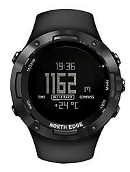 Недорогие -NORTH EDGE Универсальные Армейские часы Японский С автоподзаводом Современный Спортивные Pезина Черный 50 m Защита от влаги Термометр Светодиодная лампа Цифровой На каждый день На открытом воздухе -