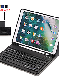 cheap -Case For iPad Pro 10.5  Detachable WiFi Bluetooth Keyboard Leather Cover For iPad Pro 10.5 inch FundaPencil Holder