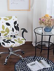 Недорогие -светло-зеленый цветочный принт компьютер офисный стул крышка сплит защитная эластичная ткань полиэстер универсальный рабочий стол стул чехлы на стулья стрейч сгущаться вращающийся стул чехол