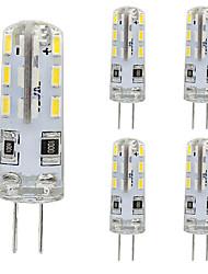 cheap -5pcs G4 1.5W LED Bulb Bi-pin 24 SMD 3014 DC 12V Warm White Cold White Home Lighti