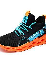 cheap -Men's Mesh Fall / Spring & Summer Trainers / Athletic Shoes Running Shoes / Walking Shoes Breathable Orange / Green / White