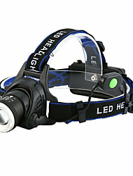 cheap -t6 headlamp Headlamps Waterproof 3000 lm LED LED 1 Emitters 4 Mode with Batteries and Charger Waterproof Rotatable Portable Lightweight Creepy Camping / Hiking / Caving Everyday Use Cycling / Bike US