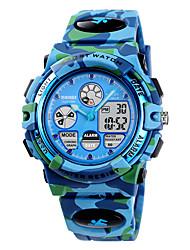cheap -SKMEI Kids Sport Watch Analog - Digital Quartz Modern Style Stylish Camouflage Alarm Chronograph Alarm Clock / One Year / Silicone