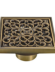 cheap -Bathroom Floor Drain Antique Brass Sanitary wares 10*10cm Bathroom Accessories