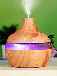 cheap -300ml Humidifier Aroma Essential Oil Diffuser Ultrasonic Wood Grain Car Air Humidifier USB Mini Mist Maker 7 LED Light Car / Home