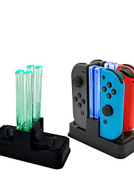 Недорогие -док-станция для зарядки Nintend Switch контроллер Joy-Con светодиодное зарядное устройство типа C для коммутатора Nintendo ProSS