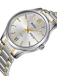 cheap -BIDEN Men's Wrist Watch Analog Quartz Elegant Calendar / date / day Casual Watch / Stainless Steel / Stainless Steel