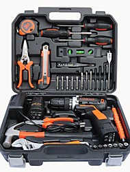 cheap -35 pieces lithium battery rechargeable electric drill set combination tool electric screwdriver hardware tool