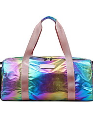 cheap -Waterproof Oxford Cloth Zipper Travel Bag Outdoor Pink / Silver / Rainbow