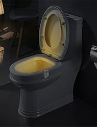 Недорогие -Смарт пир датчик движения сиденье унитаза ночник 8 цветов водонепроницаемый подсветка для унитаза светодиодная лампа Luminaria туалет туалет свет