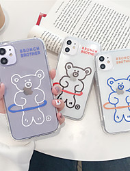 cheap -Case For Apple iPhone 11 11 Pro 11 Pro Max Bear pattern TPU material painting process anti-scratch airbag anti-fall mobile phone case