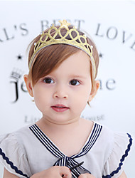 cheap -Fabric Headbands Durag Kids Bowknot Elasticity For New Baby Holiday Stylish Active Silver Gold