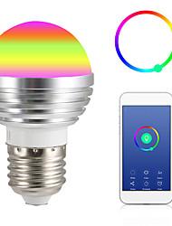 Недорогие -1шт 9 W Круглые LED лампы Умная LED лампа 700 lm E14 GU10 GU5.3 12 Светодиодные бусины Контроль APP Smart синхронизация Multi-цветы 85-265 V