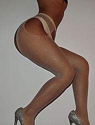 cheap -Women's Thin Super Sexy Pantyhose - Sexy 30D Fuchsia Red Khaki One-Size