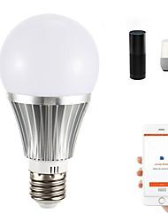 Недорогие -1шт 18 W Круглые LED лампы Умная LED лампа 700 lm E14 B22 E26 / E27 21 Светодиодные бусины Контроль APP Smart синхронизация Multi-цветы 85-265 V