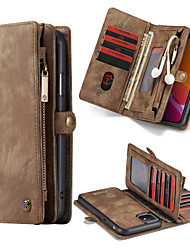cheap -CaseMe Multifunctional Luxury Business Leather Magnetic Flip Case For iPhone 11 / 11 Pro / 11 Pro Max / Xs Max / Xs / Xr / X With Wallet Card Slot Stand 2-in-1 Detachable Case Cover